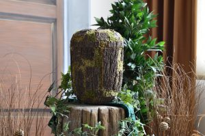Eine ungewöhnliche, aber wunderschöne Urne für naturverbundene Menschen.