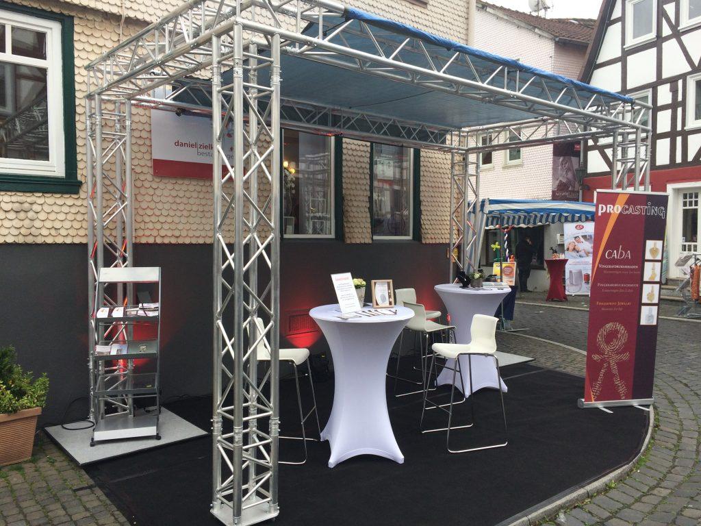 Unser Stand auf dem 246. Lauterbacher Prämienmarkt im Mai 2016 (realisiert vom BZA-Service-Team).