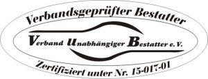 Verbandsgeprüfter und zertifizierter Bestatter.